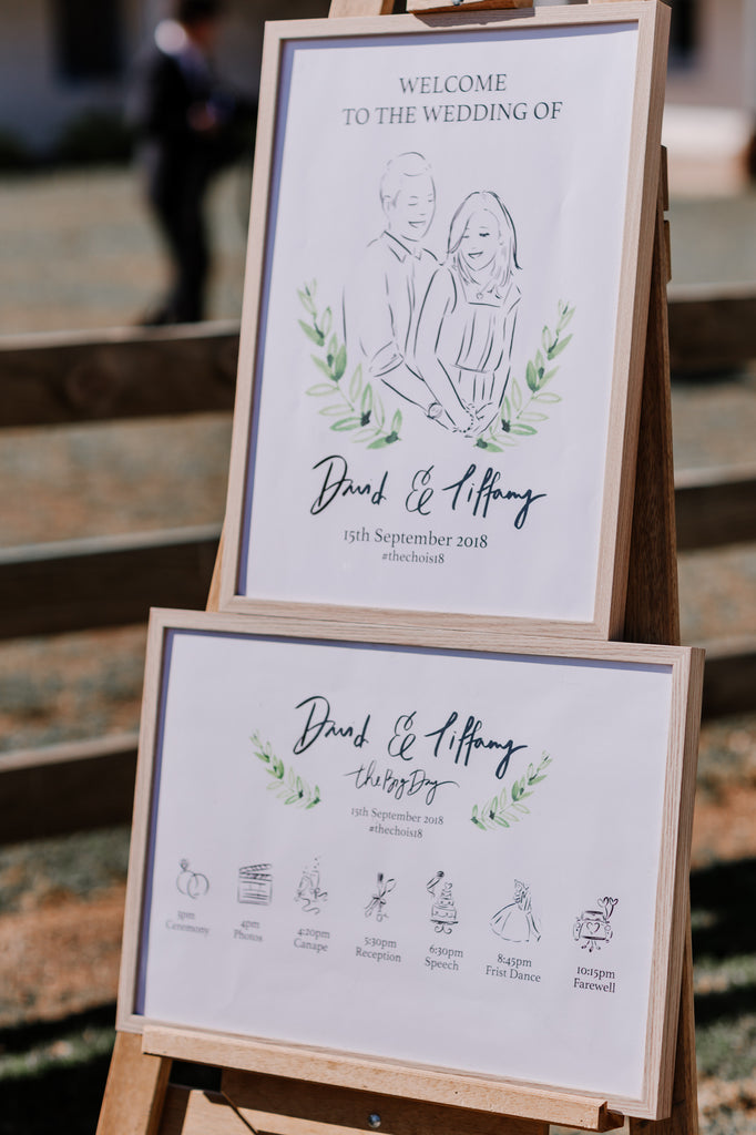 alittlebitebygrace+sydney+lettering+sign+illustration+wedding for Tiffany and David