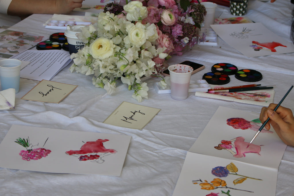 alittlebitebygrace+sydney+botanicalillustration+watercolourworkshop