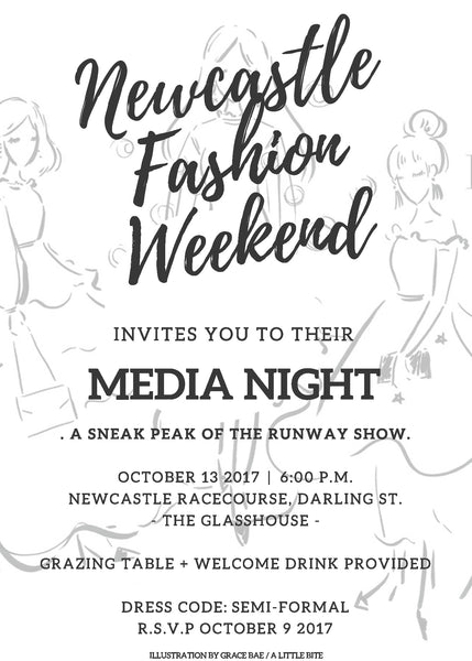 New Castle Fashion Weekend Illustration