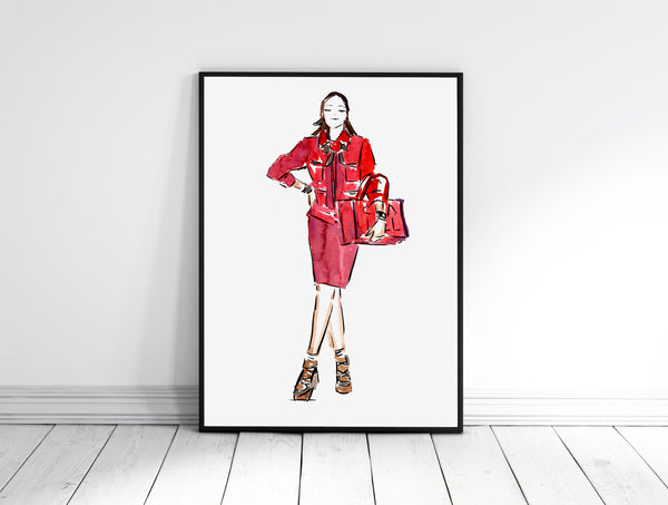 Fashion Illustration of Chanel spring-summer 2020 by Sydney Illustrator A little bite by Grace