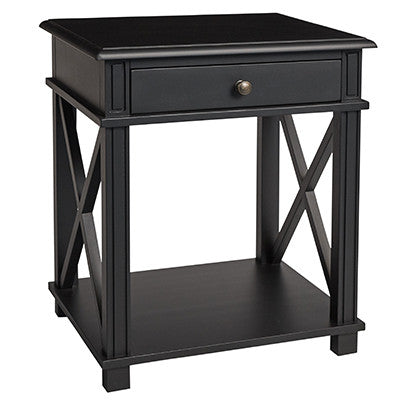 Pair Of Two Lexington Cross Leg Side Tables In Black - EX DISPLAY
