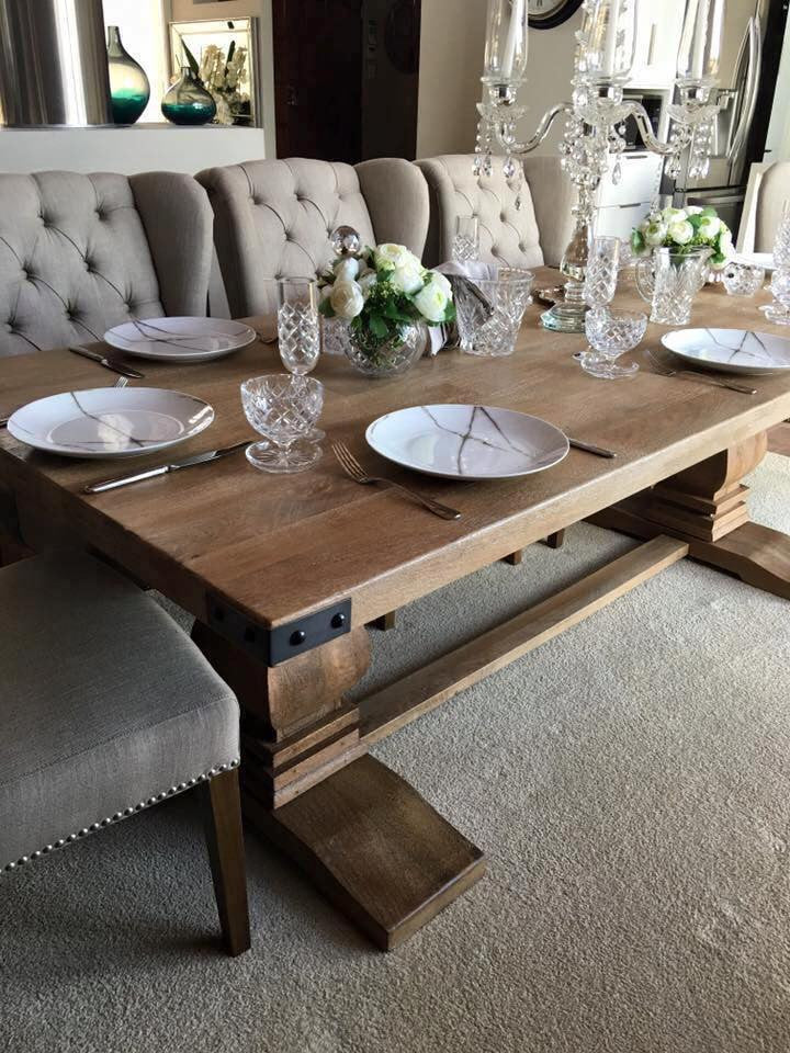 230cm Hamptons Collection Solid Hardwood Dining Table Suite Options Also Available