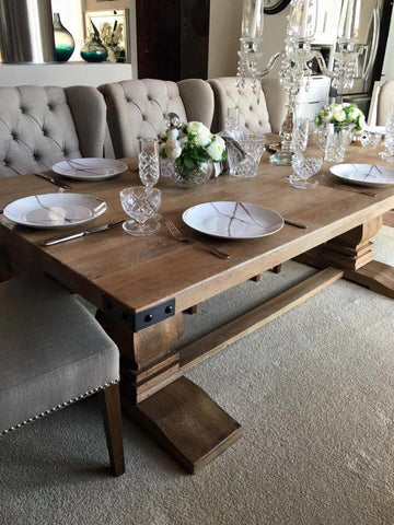 230cm Hamptons Collection Solid Hardwood Dining Table