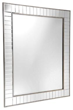 Luxury Hollywood Wall Mirror In Antique Silver