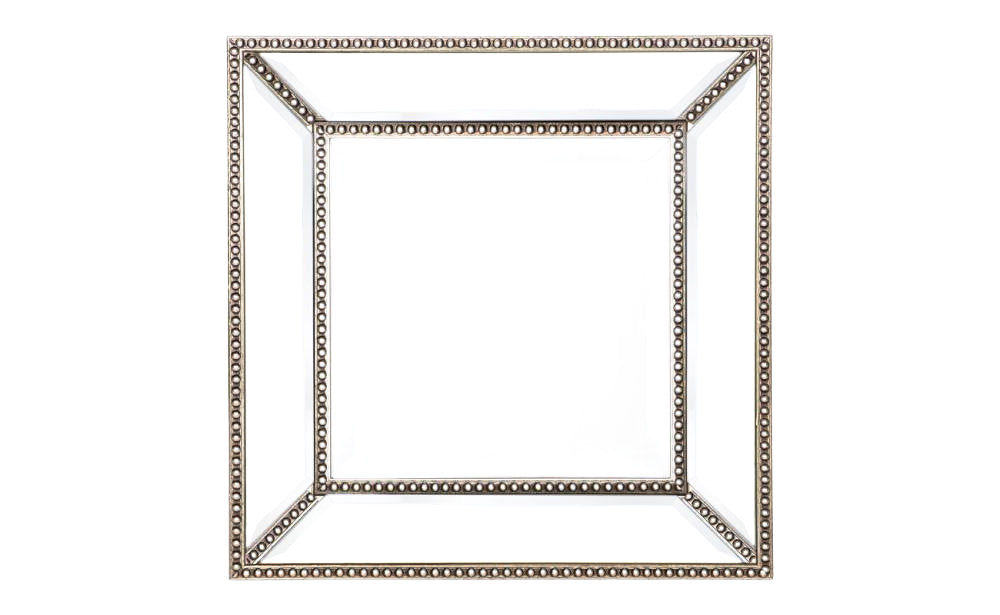 Small Beaded Wall Mirror