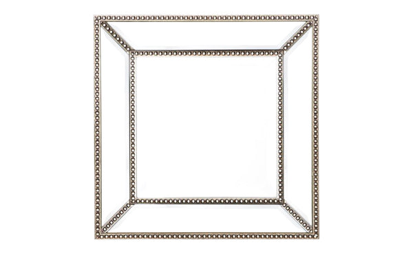 Small Beaded Wall Mirror - CLEARANCE