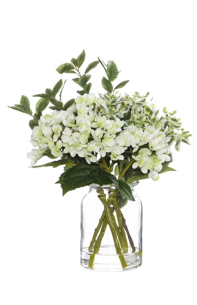 Light Green & White Hydrangea Mix Vase