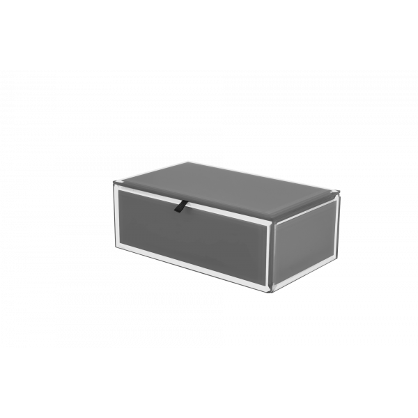 Grey Glass Jewellery Box - Two Sizes Available