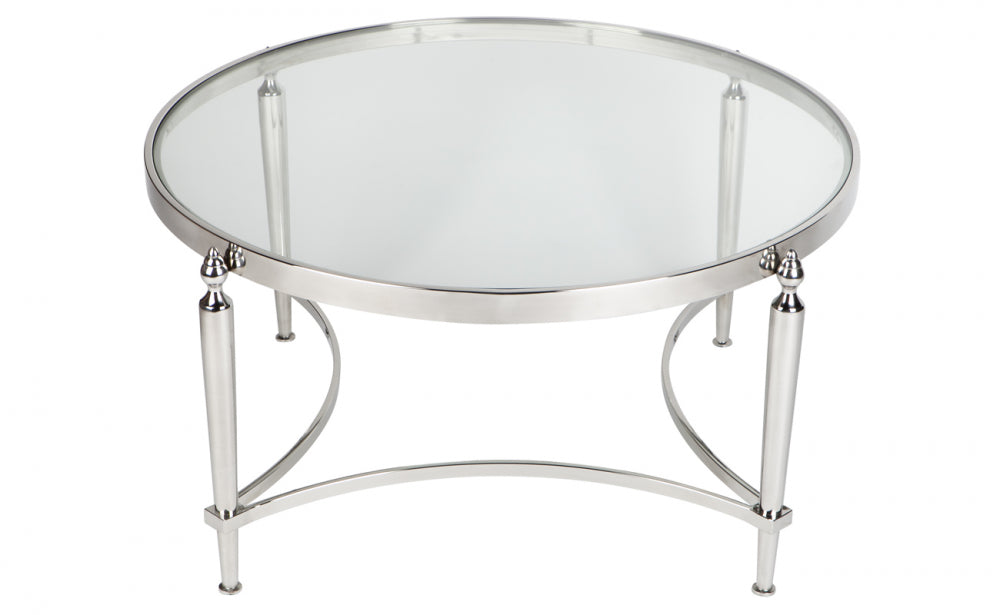 Large Polished Nickel Coffee Table - EX DISPLAY