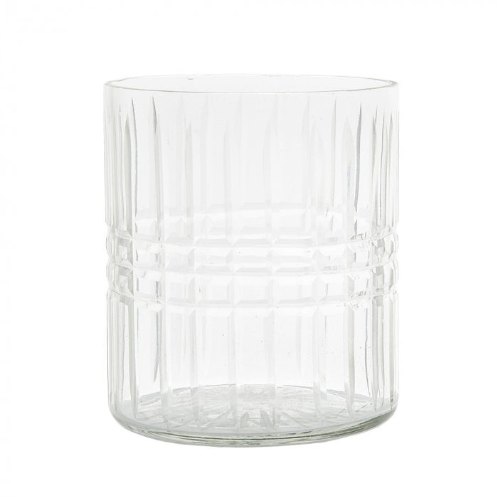 Diamond Cut Hurricane Vase In Small