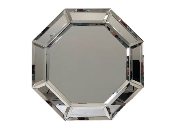 Octagonal Bevelled Wall Mirror - CLEARANCE