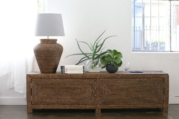 Rattan TV Entertainment Unit