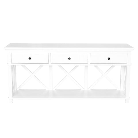 Newport Three Drawer Console Table In White