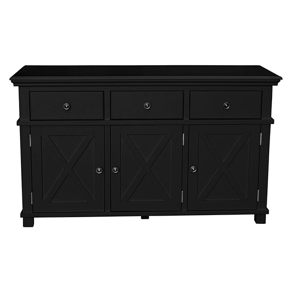Newport Three Door Buffet In Black