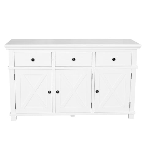 Newport Three Door Buffet In White