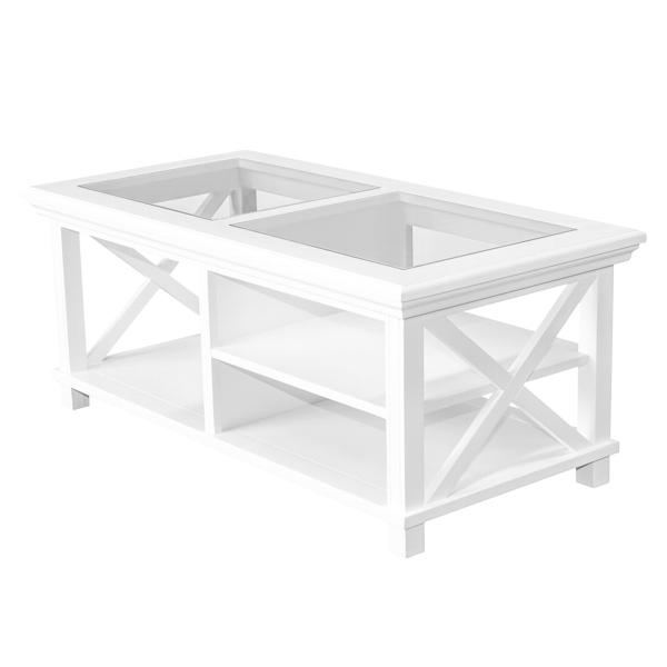 Newport Rectangle Coffee Table In White - PREORDER