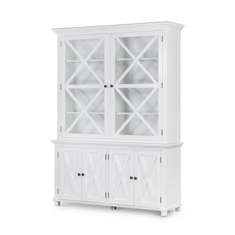 Newport Display Cabinet In White - PREORDER