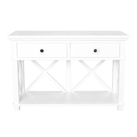 Newport Two Drawer Console Table In White