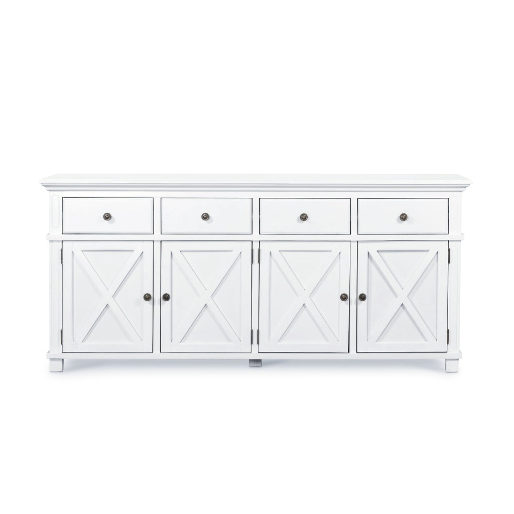 Newport Four Door Buffet In White - PREORDER