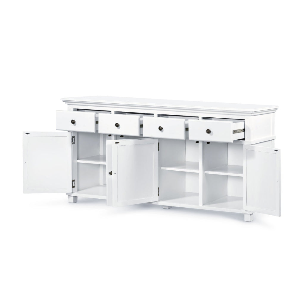 Newport Four Door Buffet In White
