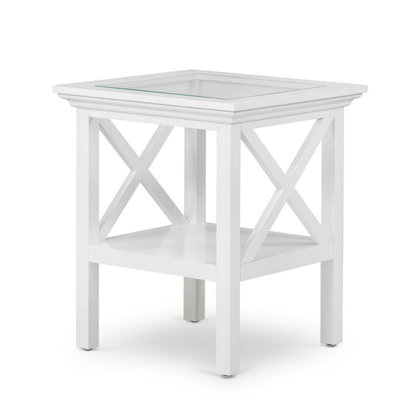 Newport Glass Top Side Table - PREORDER