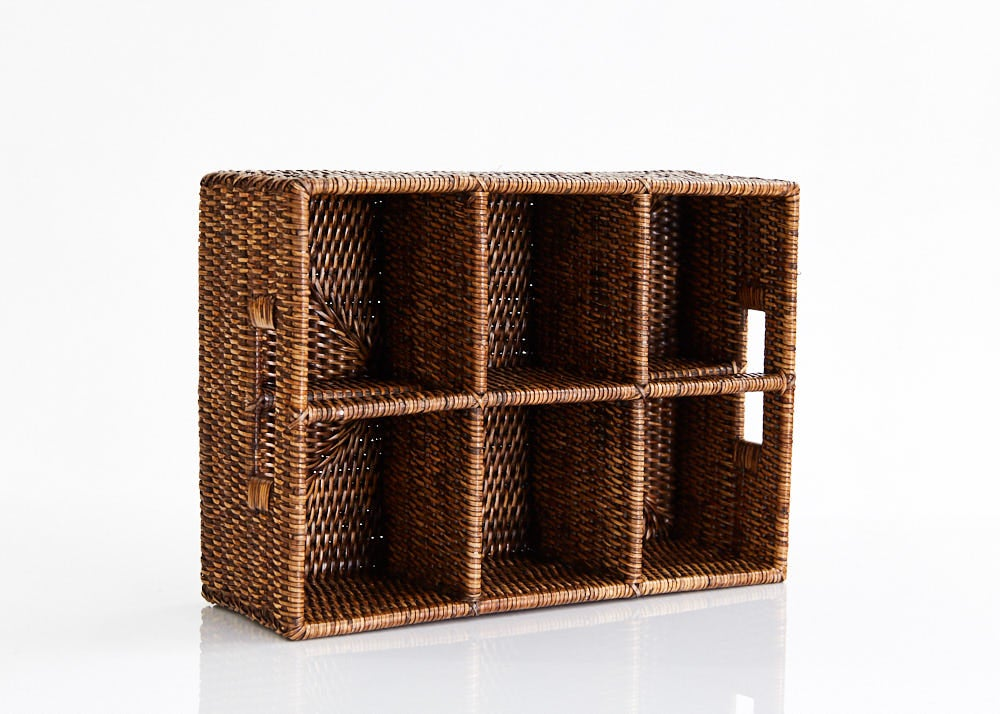 Rectangular Rattan Caddy