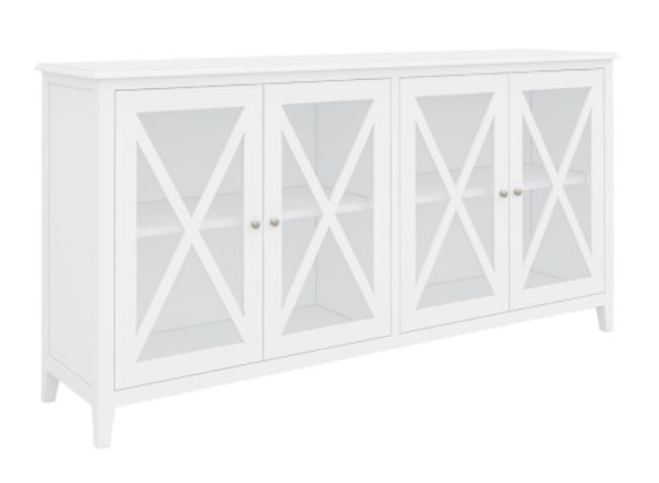 South Hampton Four Door Buffet In White