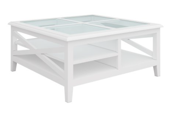 South Hampton Square Coffee Table In White