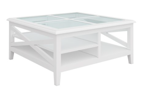 South Hampton Square Coffee Table In White - PREORDER