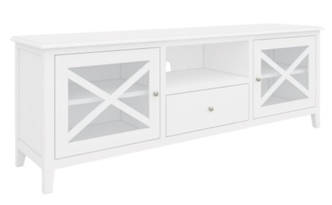 South Hampton Entertainment Unit In White - 210cm