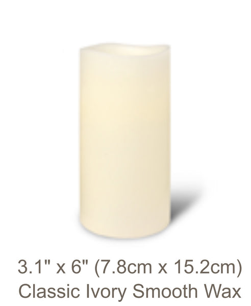 Classic Ivory Flameless Candle Platinum Collection In Medium