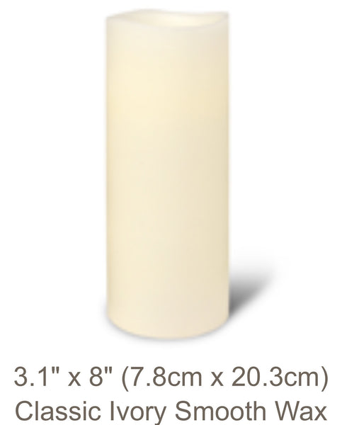 Classic Ivory Flameless Candle Platinum Collection In Large