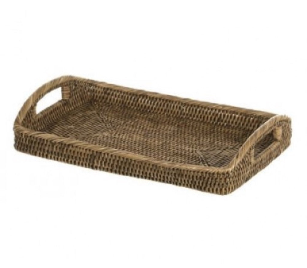 Rattan Tray With Arched Handles In Small
