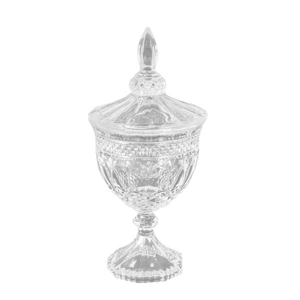 Crystal Cut Glass Footed Jar