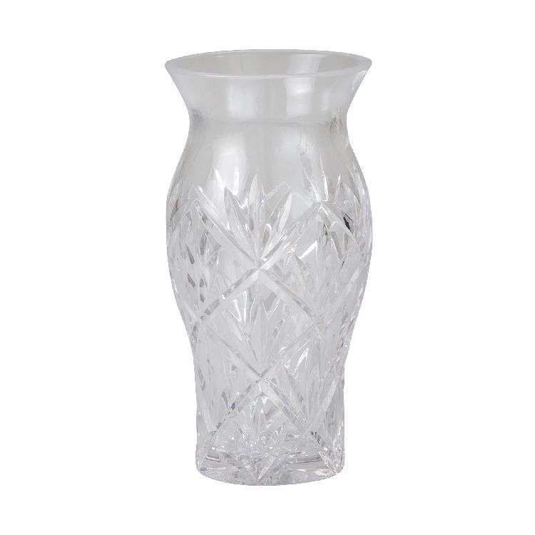 Solitaire Crystal Glass Vase 25cm
