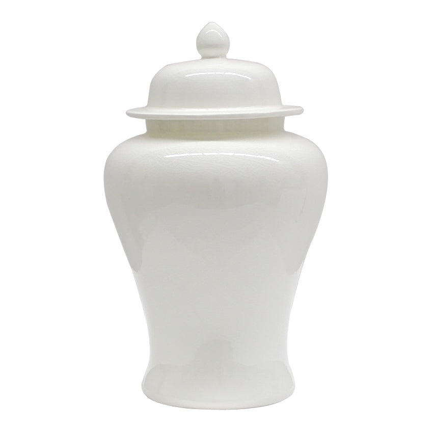 White Ginger Jar - Two Sizes Available