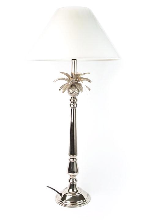 Large Silver Pineapple Lamp With Shade