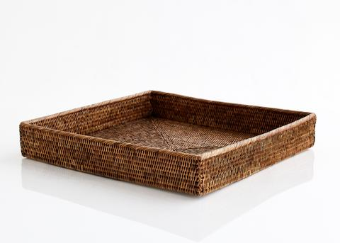 Large Square Rattan Tray