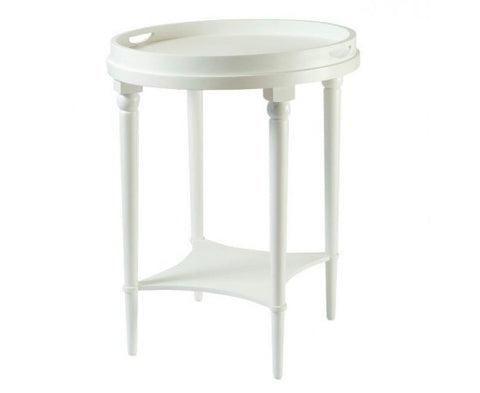Bayview Tray Table In White - CLEARANCE