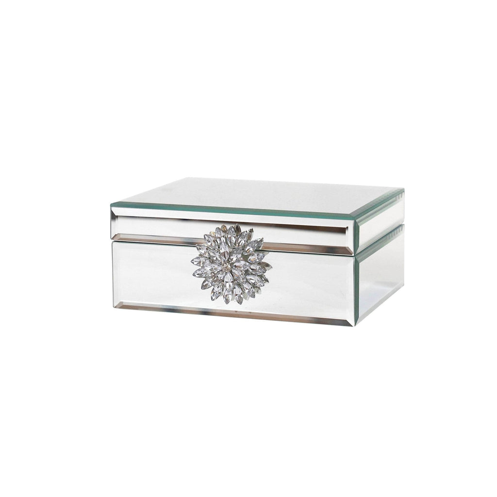Mirrored Diamante Jewellery Box - Two Sizes Available