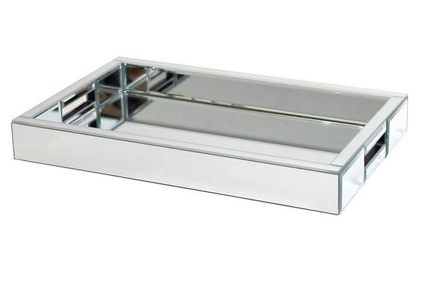 Luxury Rectangular Bevelled Mirror Tray