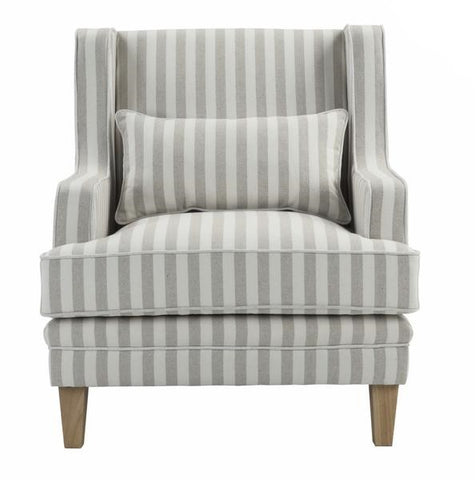 Newport Armchair In Natural Stripe