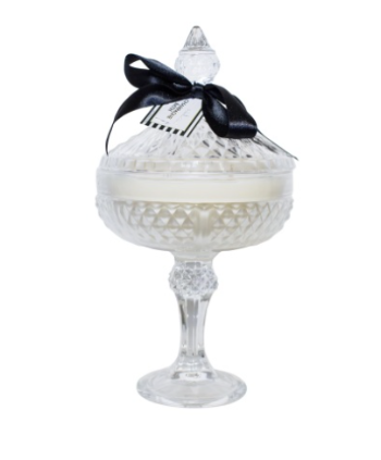 Crystal Cut Glass Footed Candle