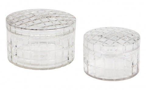 Manhattan Crystal Cut Decorative Box - HALF PRICE!