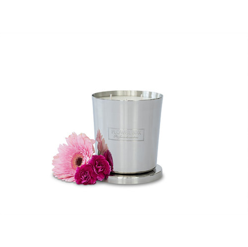 Flower Box Home Fragrance Pink Flowers - 1kg Silver Candle