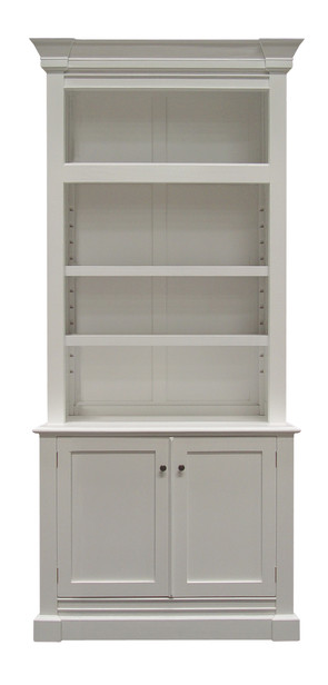Hamptons Single Bay Library Bookcase