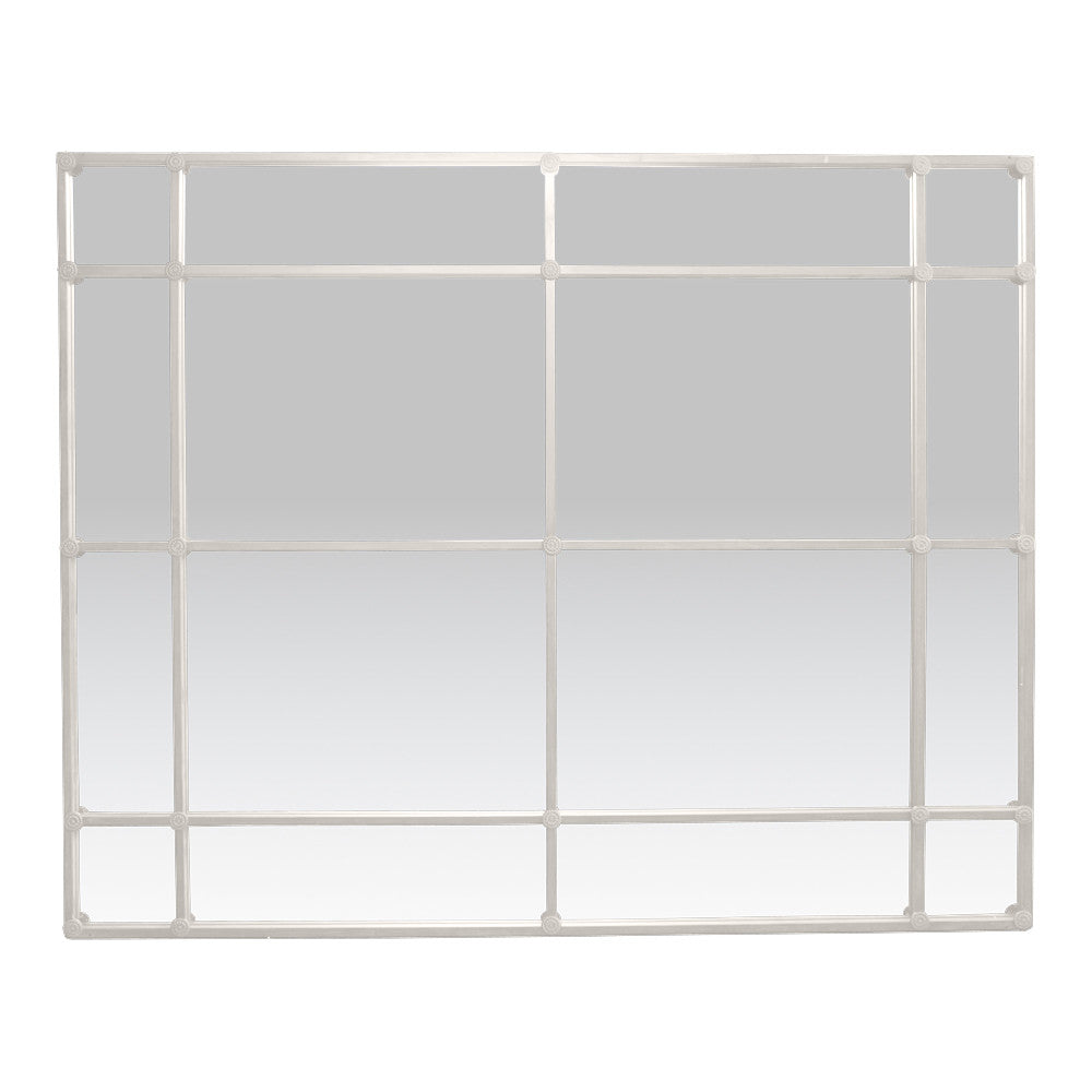 Classic White Iron Rectangular Wall Mirror