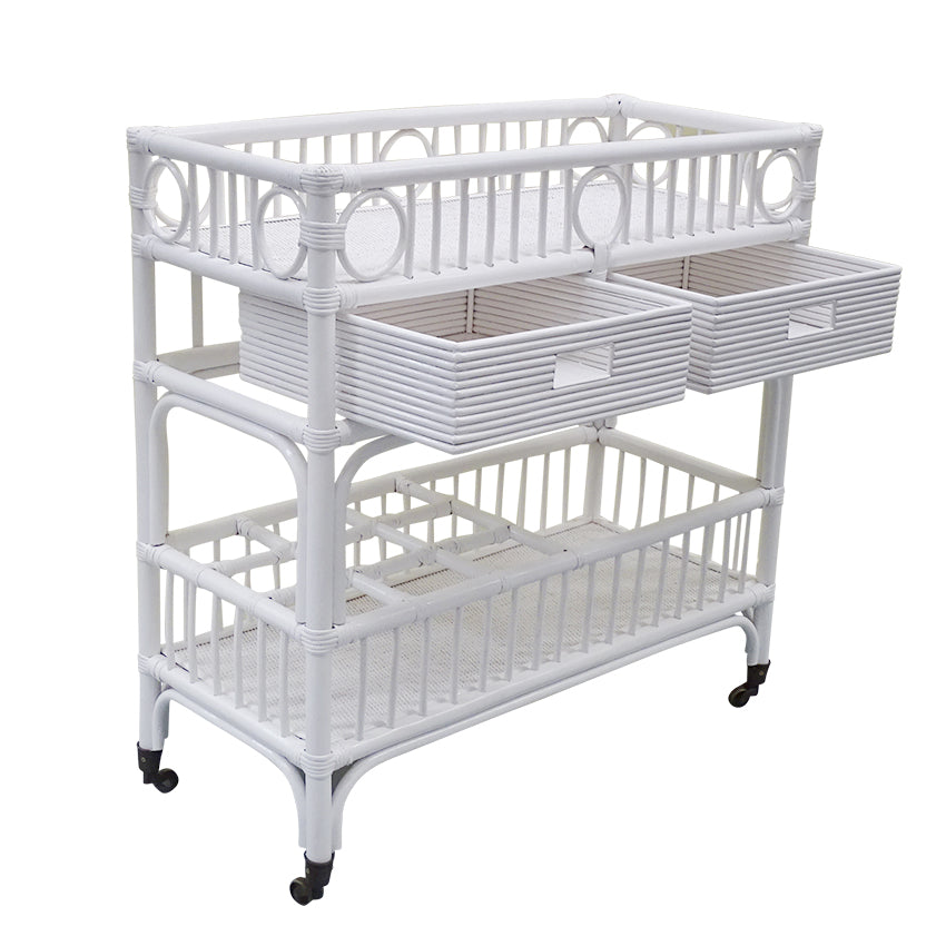 Hampton Bay Bar Caddy In White