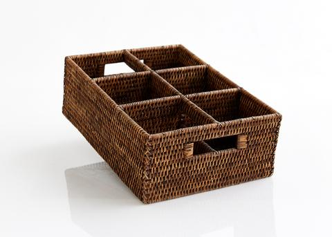 Rectangular Rattan Kitchen Caddy