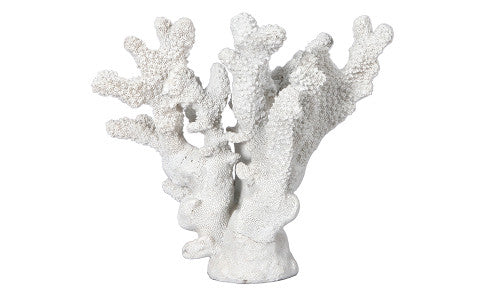 Faux White Coral Ornament
